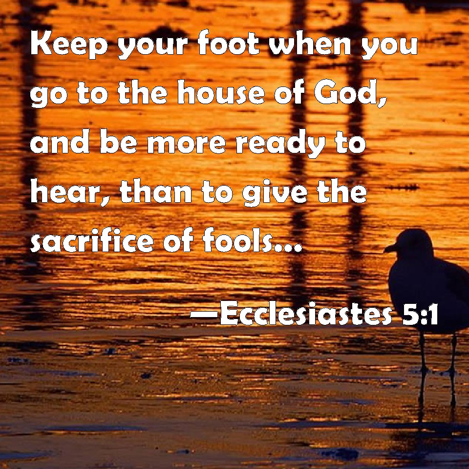Image result for Eccl. 5:1 KJV