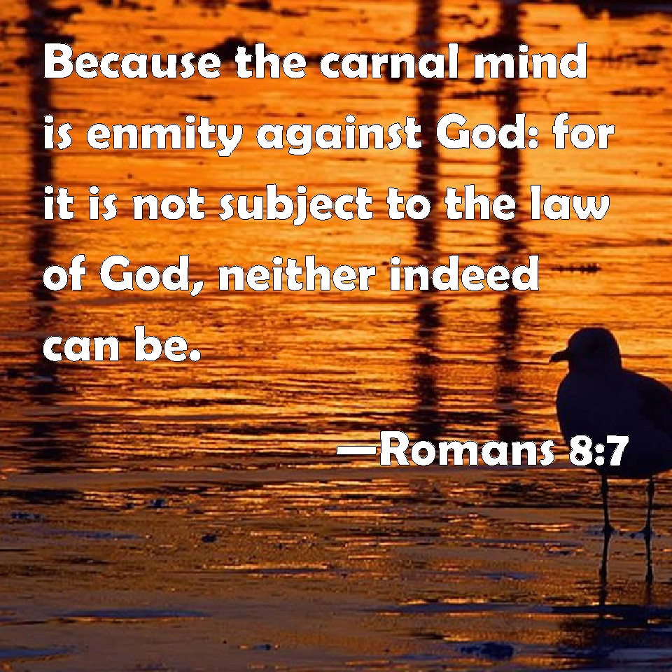 Romans 8:7 Because The Carnal Mind Is Enmity Against God