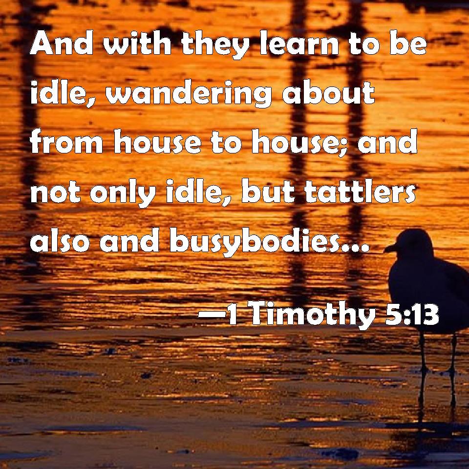 1 TIMOTHY 5:13 KJV