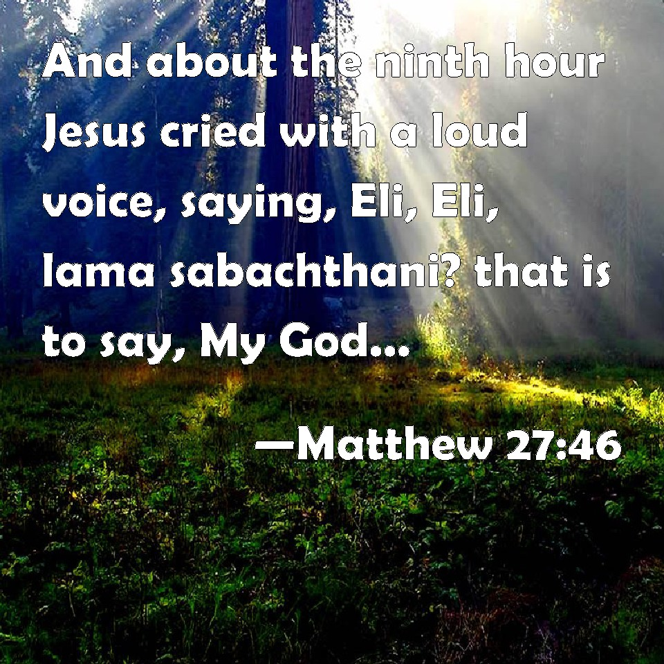 matthew 27 46 and about the ninth hour
