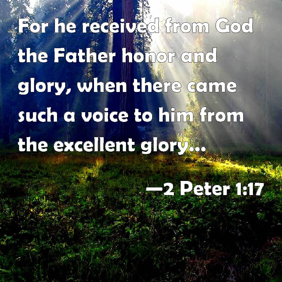 Image result for  2 Peter 1:17
