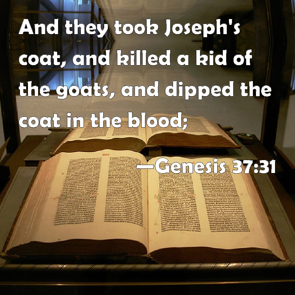 Genesis 37 31 And They Took Joseph S Coat And Killed A