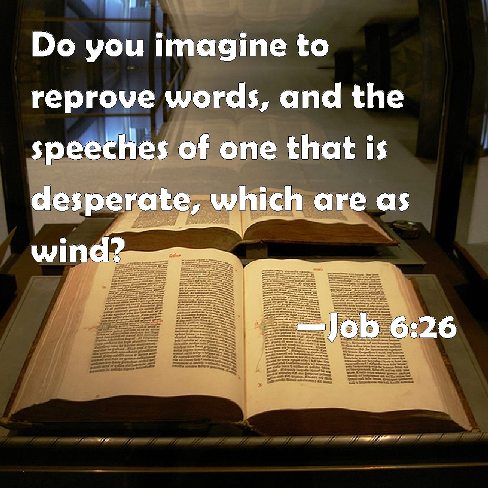 job 6 26 do you imagine to reprove words and the speeches of one job 6 26 do you imagine to reprove words and the speeches of one that is desperate which are as wind