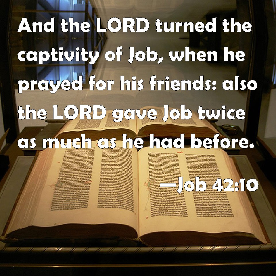 and when job prayed for his friends