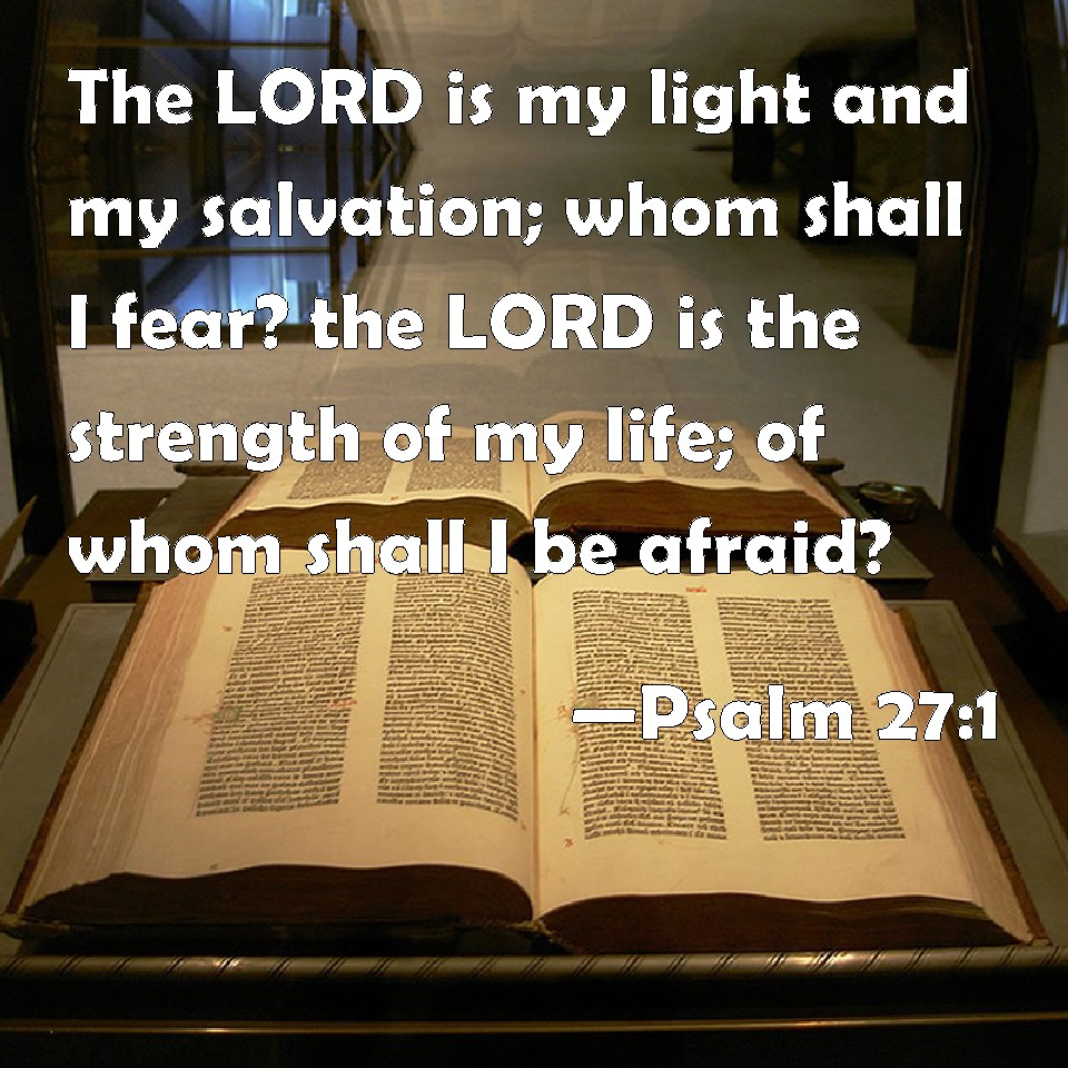 Psalm 271 The LORD Is My Light And My Salvation Whom