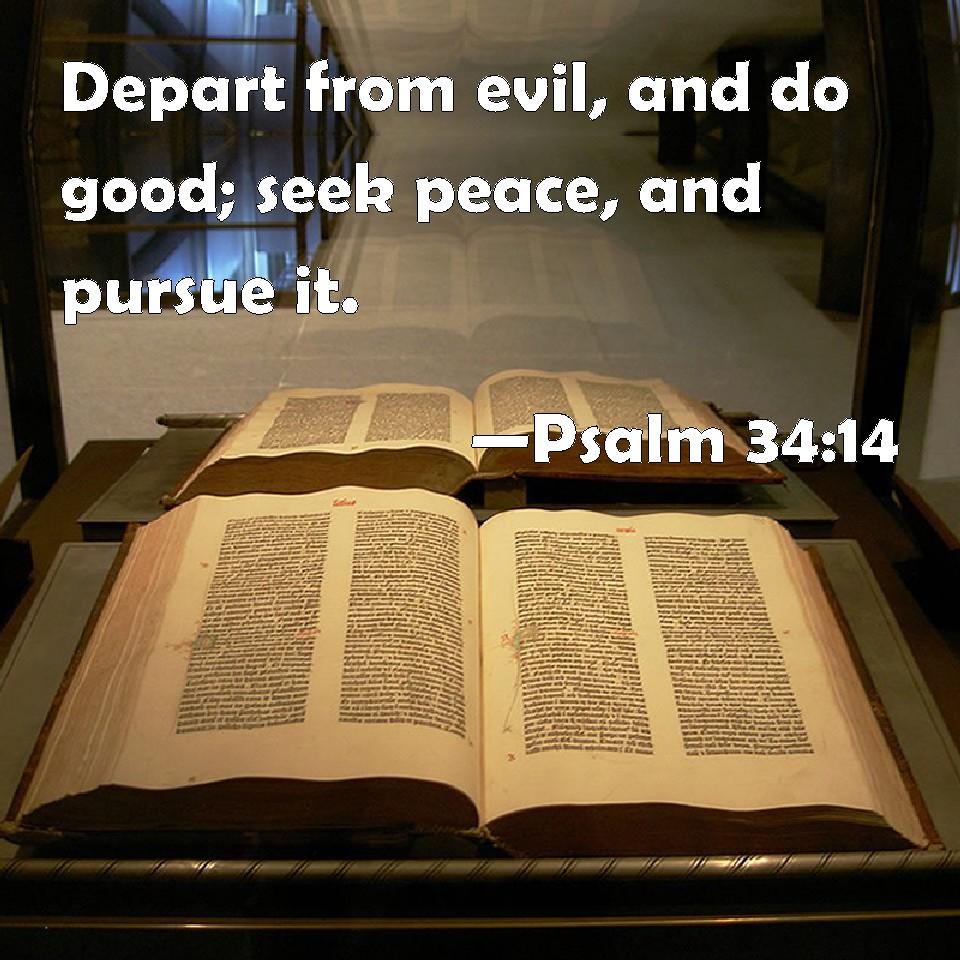 Psalms 34:14-15