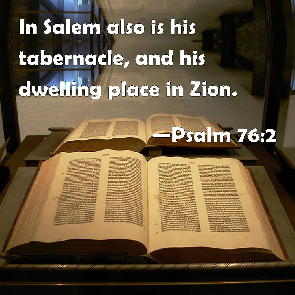 Image result for psalm 76 2 kjv
