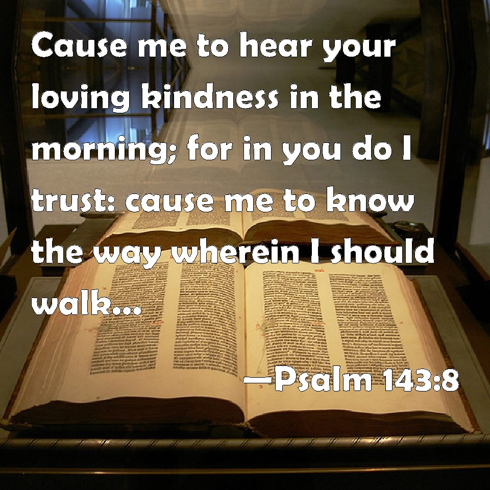 Psalm 143 8 cause me to hear your loving kindness in the morning for