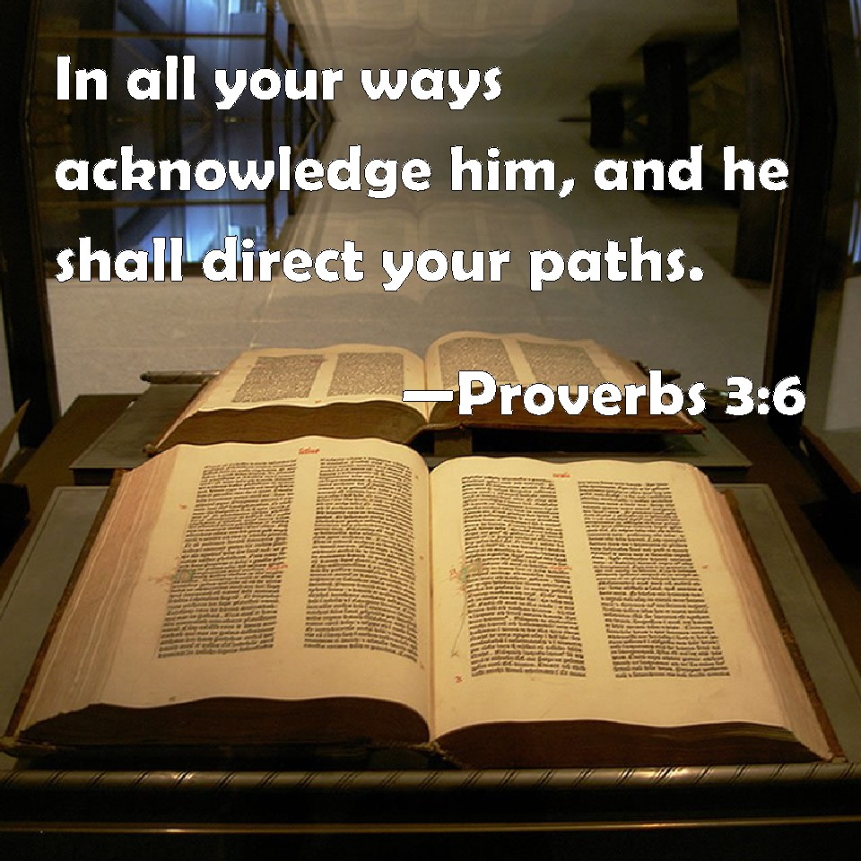 proverbs 3 6 in all your ways acknowledge him and he