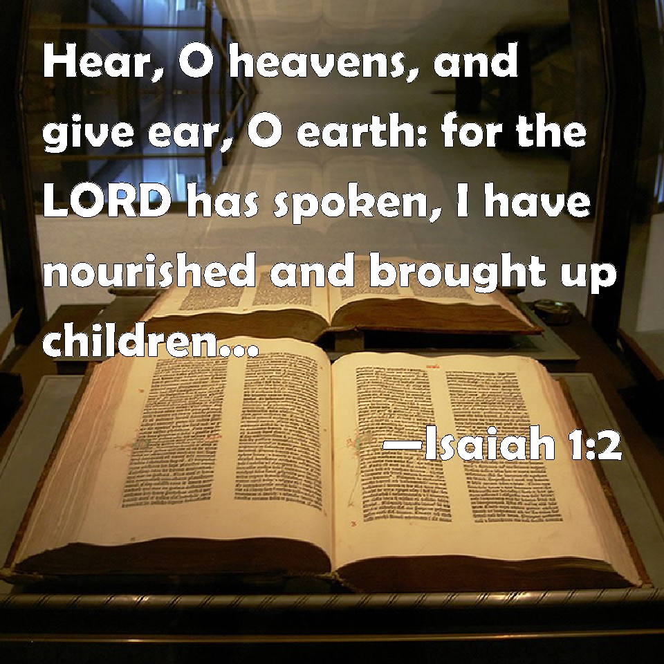 Image result for Isaiah  1   2