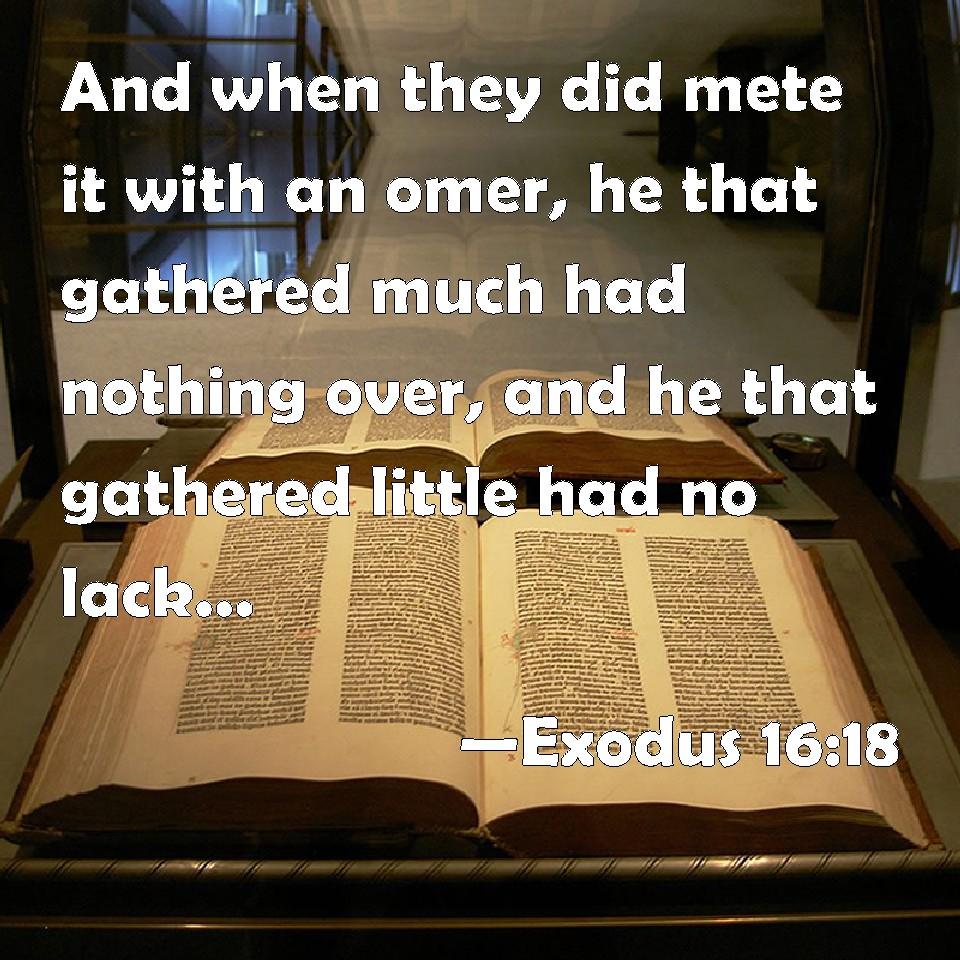 Resultado de imagen para EXODUS 16:18