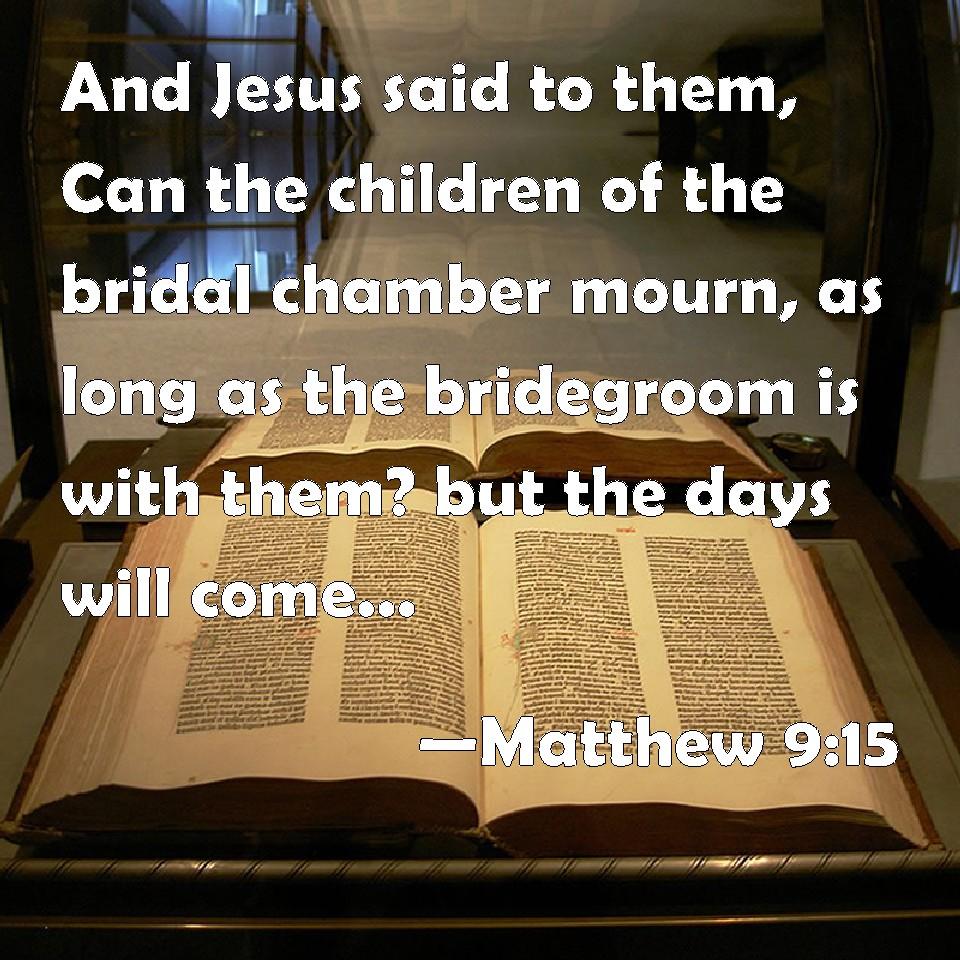 Please explain Matthew 9:15-17.