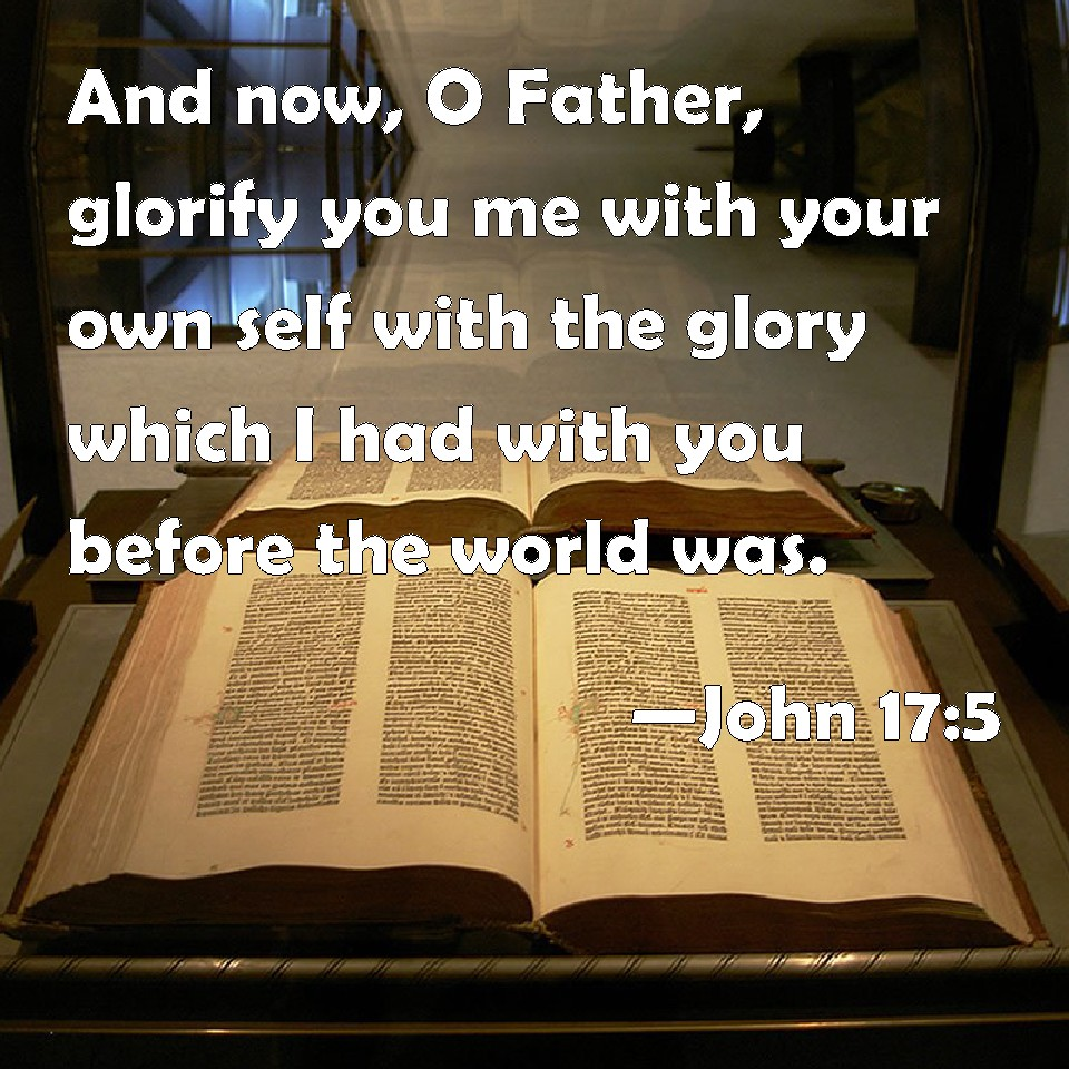 Image result for jOHN 17:5
