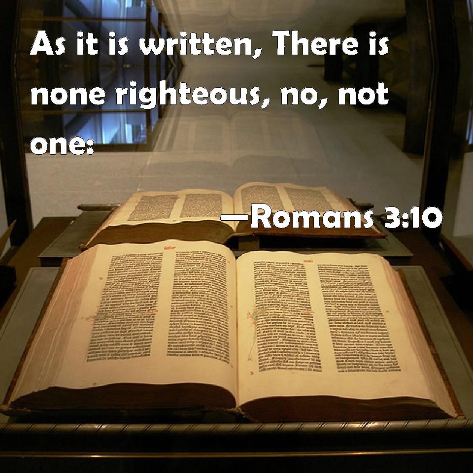 Αποτέλεσμα εικόνας για / Romans 3   10