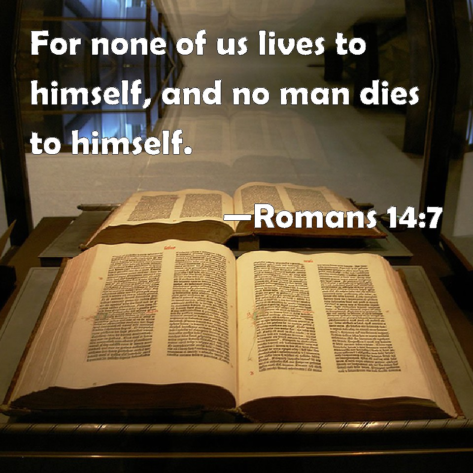 none of us lives in a 053 - we belong to god 1 none of us lives as his own and none of us dies as his own for while we live we are responsible to god and when we die, we die as his servants (refrain) refrain: for both in life and death we belong to god that is why christ has died for us and come.