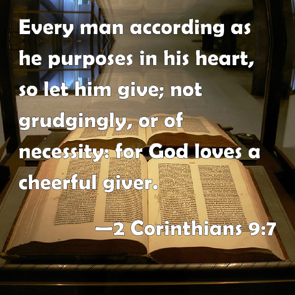 Image result for god loves a cheerful giver