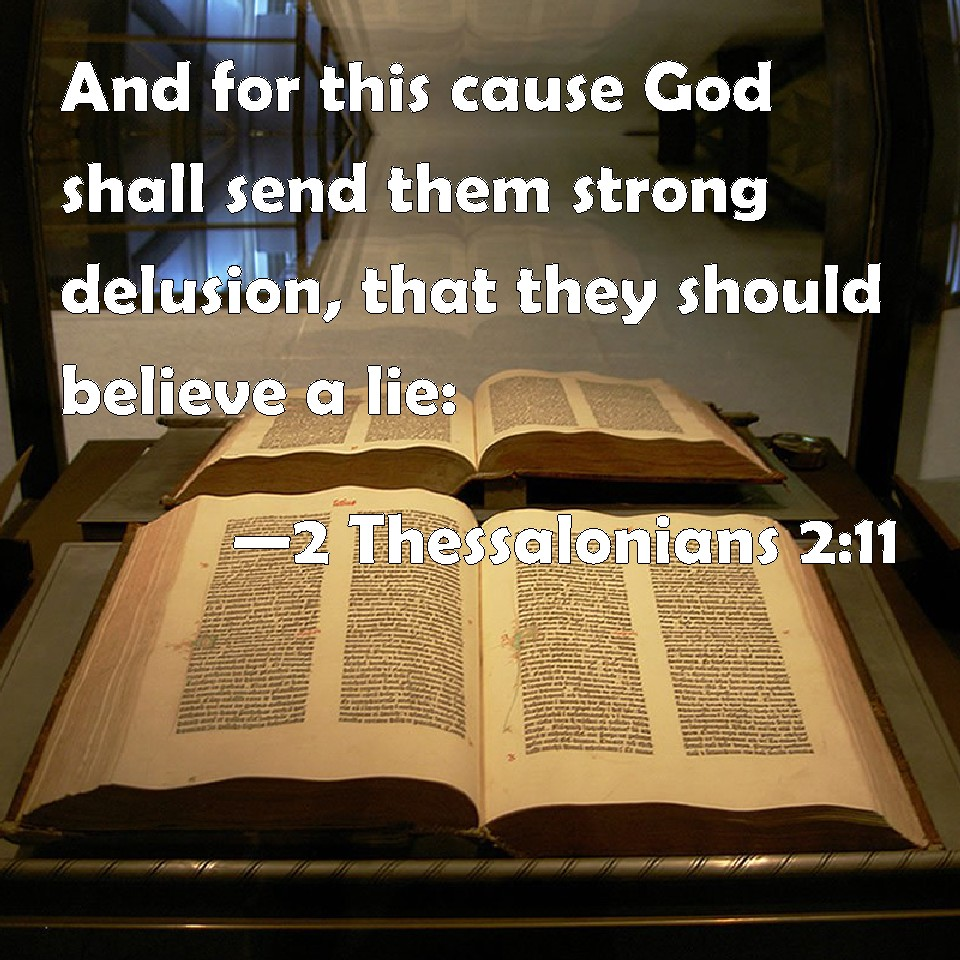 Image result for THE BIBLE STRONG DELUSION