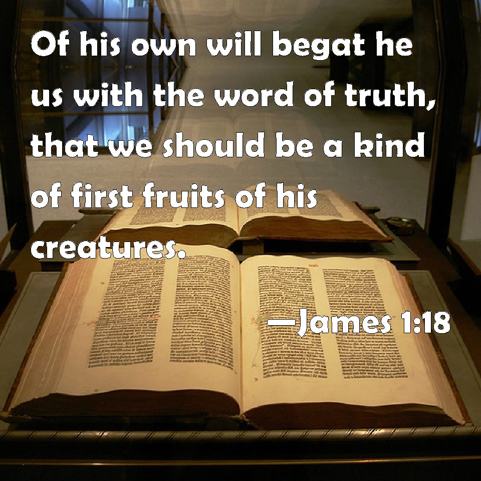 James 1:18 Of His Own Will Begat He Us With The Word Of