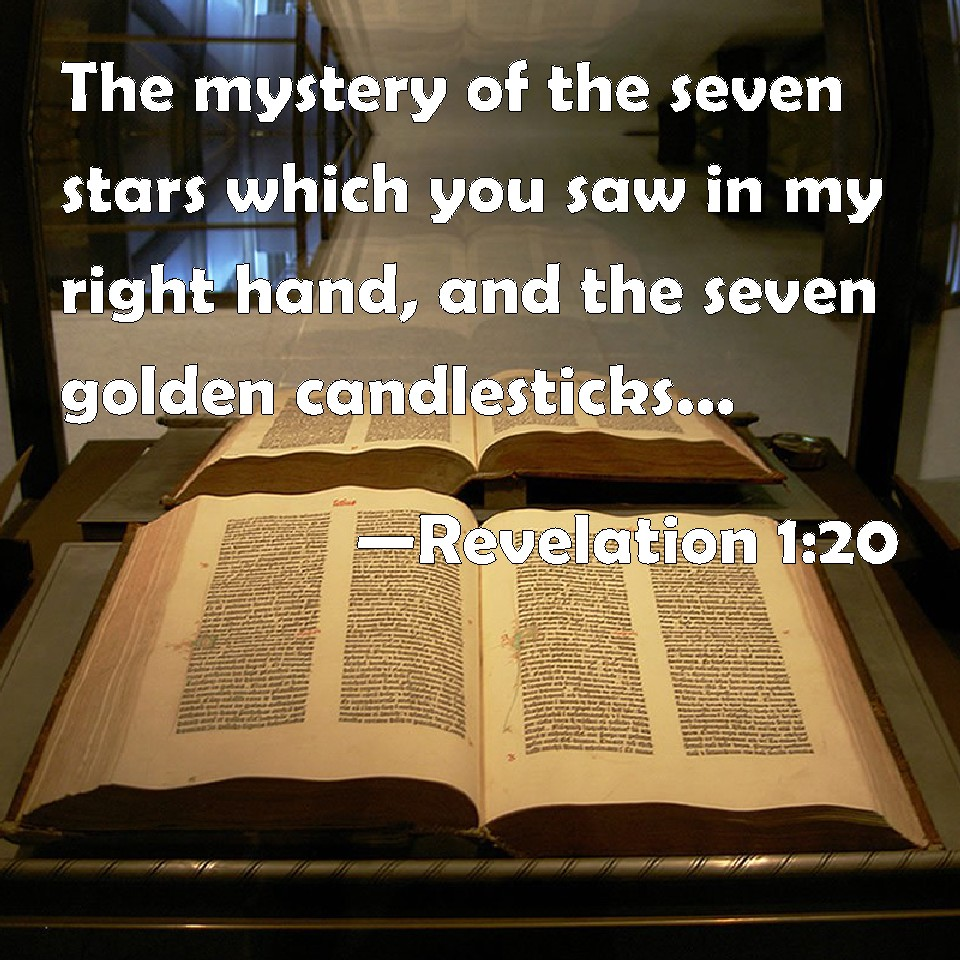 Revelation 1:20 The mystery of the seven stars which you saw in my ... for Seven Golden Lampstands  535wja
