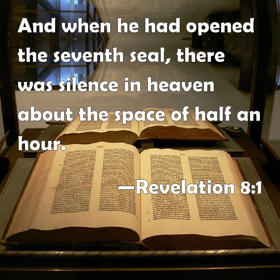Image result for half hour silence in heaven