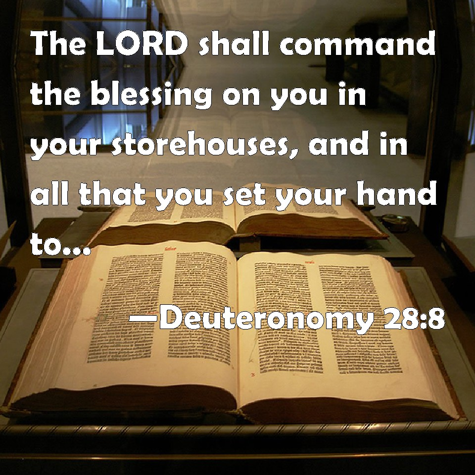Deuteronomy 28:8 The LORD Shall Command The Blessing On